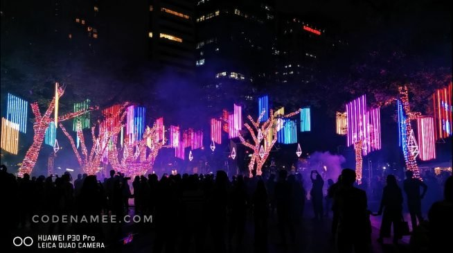 In Photos and Video: Ayala Triangle Festival of Lights Show 2019