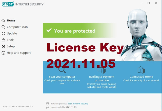 Eset Internet Security َ Antivirus V14.0.22.0 License Key 2021.11.05 Free by GSM Free Equipment