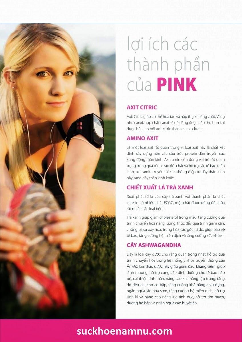 PINK hỗ trợ tăng kích thước và săn chắc vòng 1 của phụ nữ