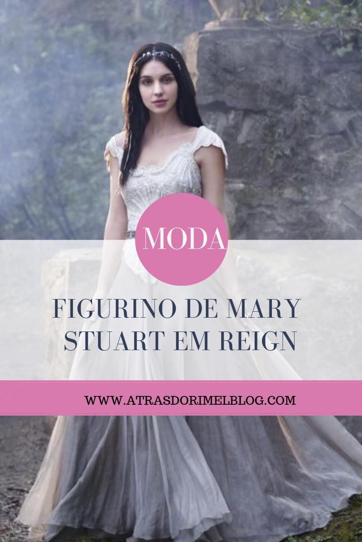 Figurino de Mary Stuart em Reign