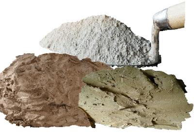 bahan semen dan tanah liat