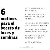 6 MOTIVOS PARA EL BOCETO DE LUCES Y SOMBRAS