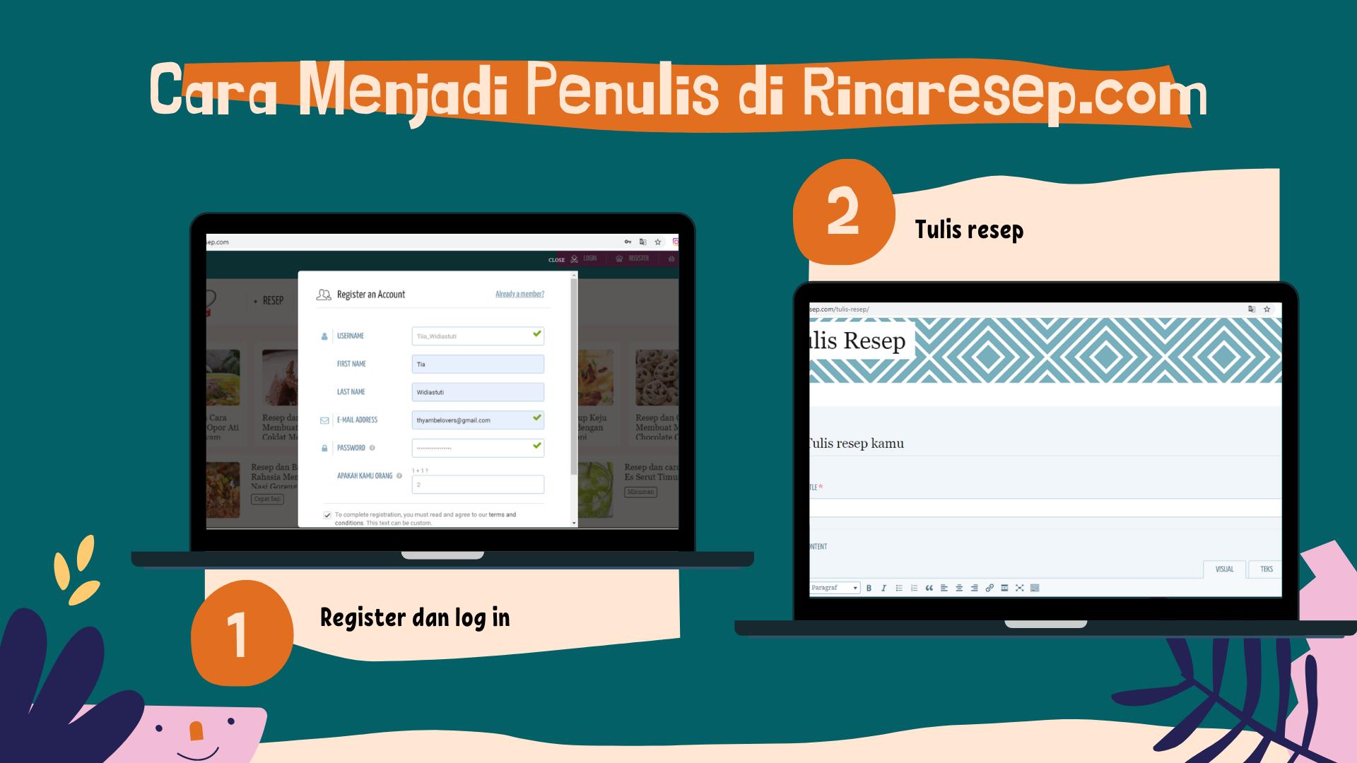 Cara Menjadi Penulis di Rinaresep.com