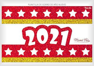 Gorros de Año Nuevo 2021 para Imprimir
