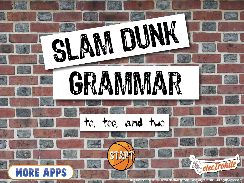 Slam Dunk Grammar To Too And Two App Review And