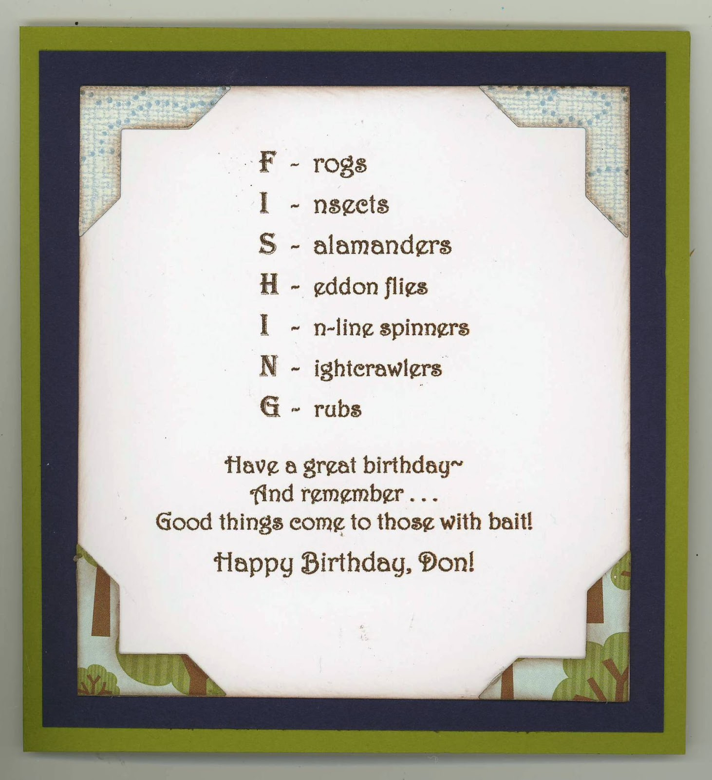 At The Stage In Birth Of One My Card I Turn To Inside Create A Design That Compliments Outside And Make Verse Goes With