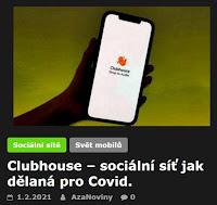 Clubhouse – sociální síť jak dělaná pro Covid. - AzaNoviny