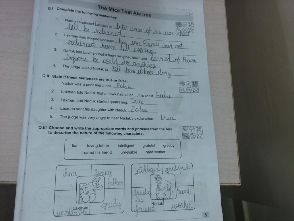 Grade 3 English Workbook pg no.5,6,7 young writers pg no10,11,12,13 ...
