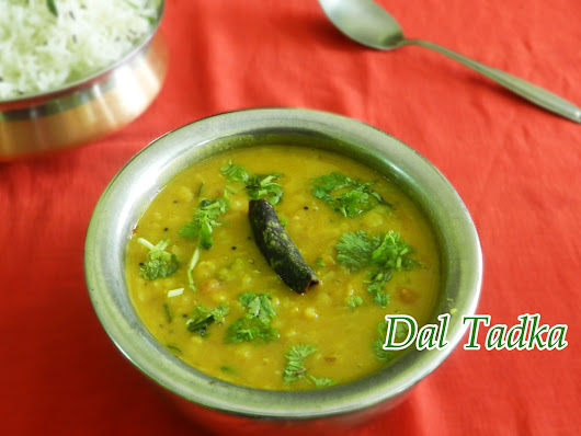 Dal Tadka - Lentil curry with Onion and Tomato