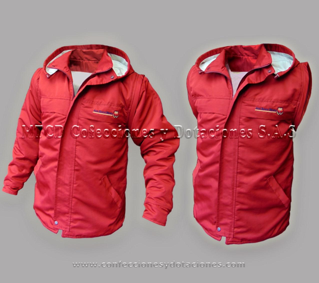 Chaqueta doble funcion, chaqueta y chaleco