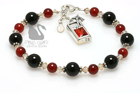 Long Island Iced Crystal Gemstone Beaded Bracelet (B183)