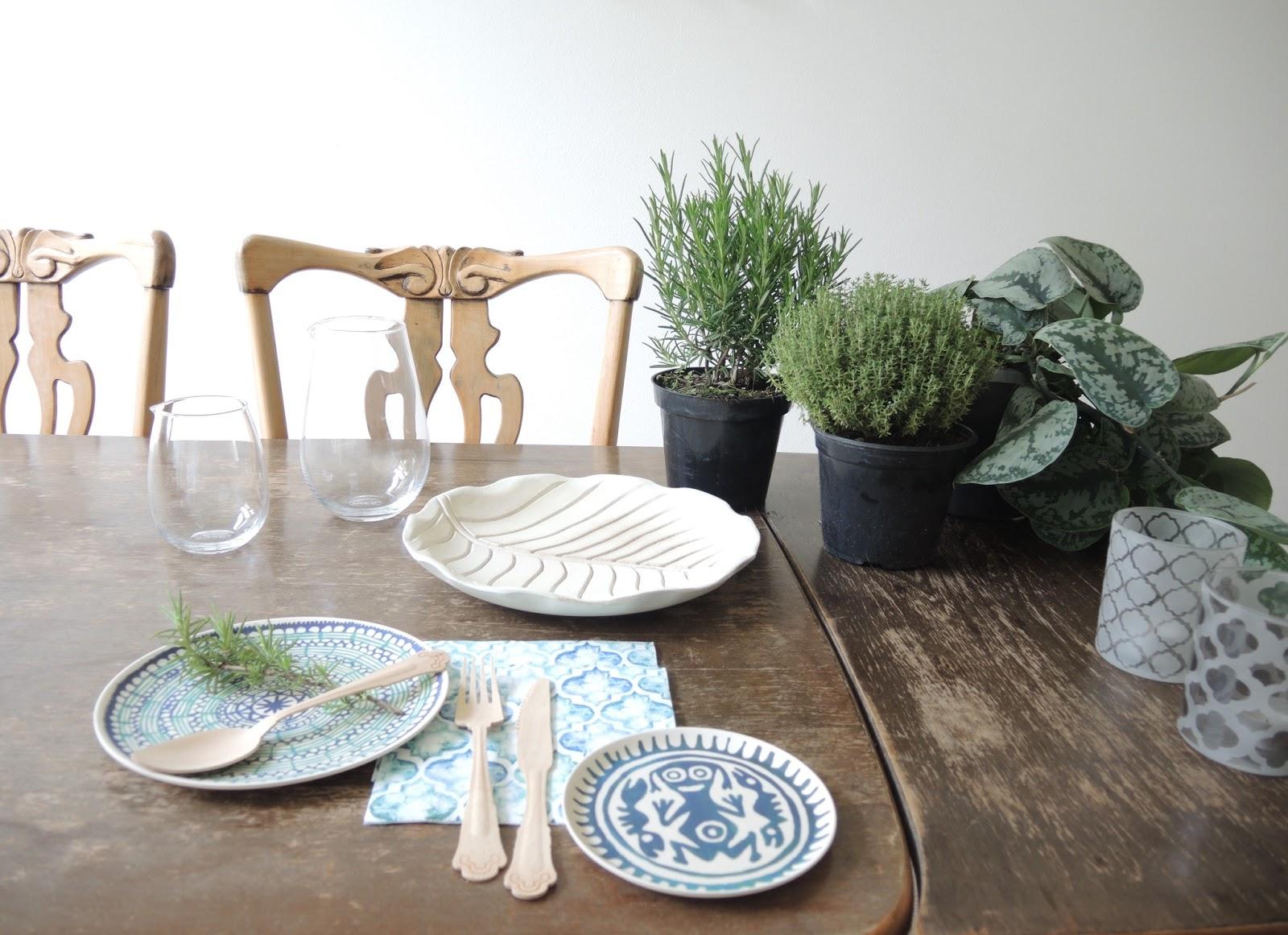 Urban Jungle Inspiratie : Muy bien!: ¡urban jungle bloggers: plantly table setting!