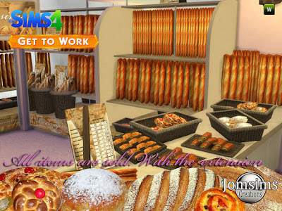 The bakery 2015 Пекарня 2015 для The Sims 4 Пекарня ... вы можете использовать этот набор с расширением sims 4, чтобы приступить к работе. Круассаны. шоколадный хлеб. Разное выпечка. хлеб разный и хлеб поднос. и корзина с хлебом. Plv. Автор: jomsims