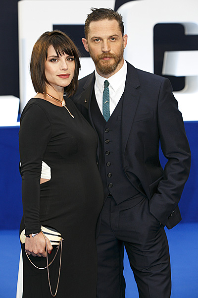 pregnant Charlotte Riley and Tom Hardy