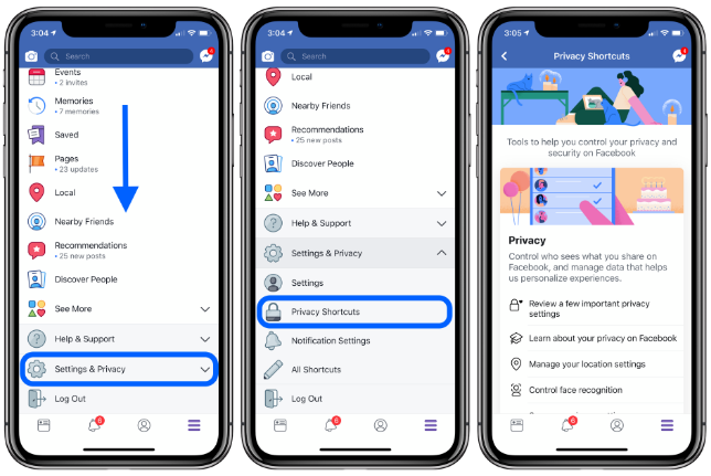 How to deactivate or delete your Facebook account or change privacy settings on iPhone