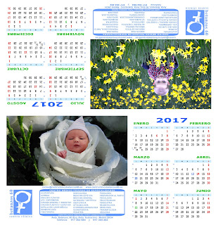 Diseño del calendario especial de 2017 de sobremesa