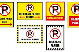 Kumpulan Template Banner Dilarang Parkir Format CDR