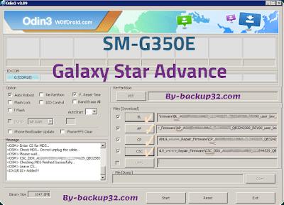 سوفت وير هاتف Galaxy Star Advance موديل SM-G350E روم الاصلاح 4 ملفات تحميل مباشر