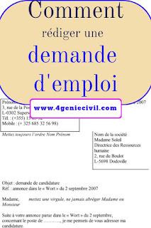 Comment Ecrire une Lettre de Demande d'emploi pdf