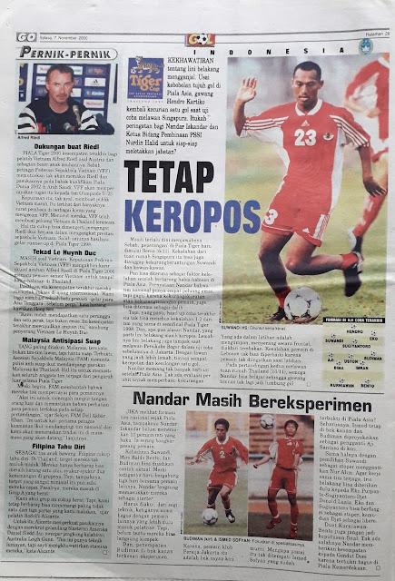 TIGER CUP: INDONESIA TETAP KEROPOS