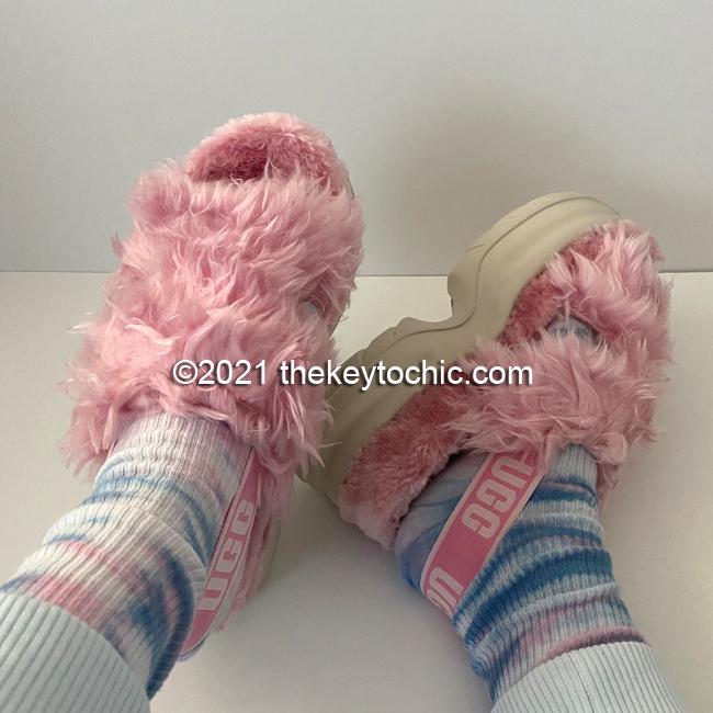UGG Fluff Sugar platform sandals pink