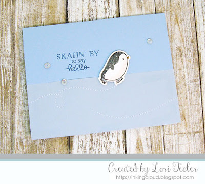Skating by to Say Hello card-designed by Lori Tecler/Inking Aloud-stamps from Mama Elephant
