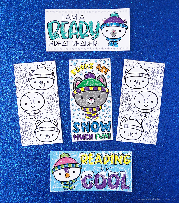Free Printable Winter Coloring Bookmarks