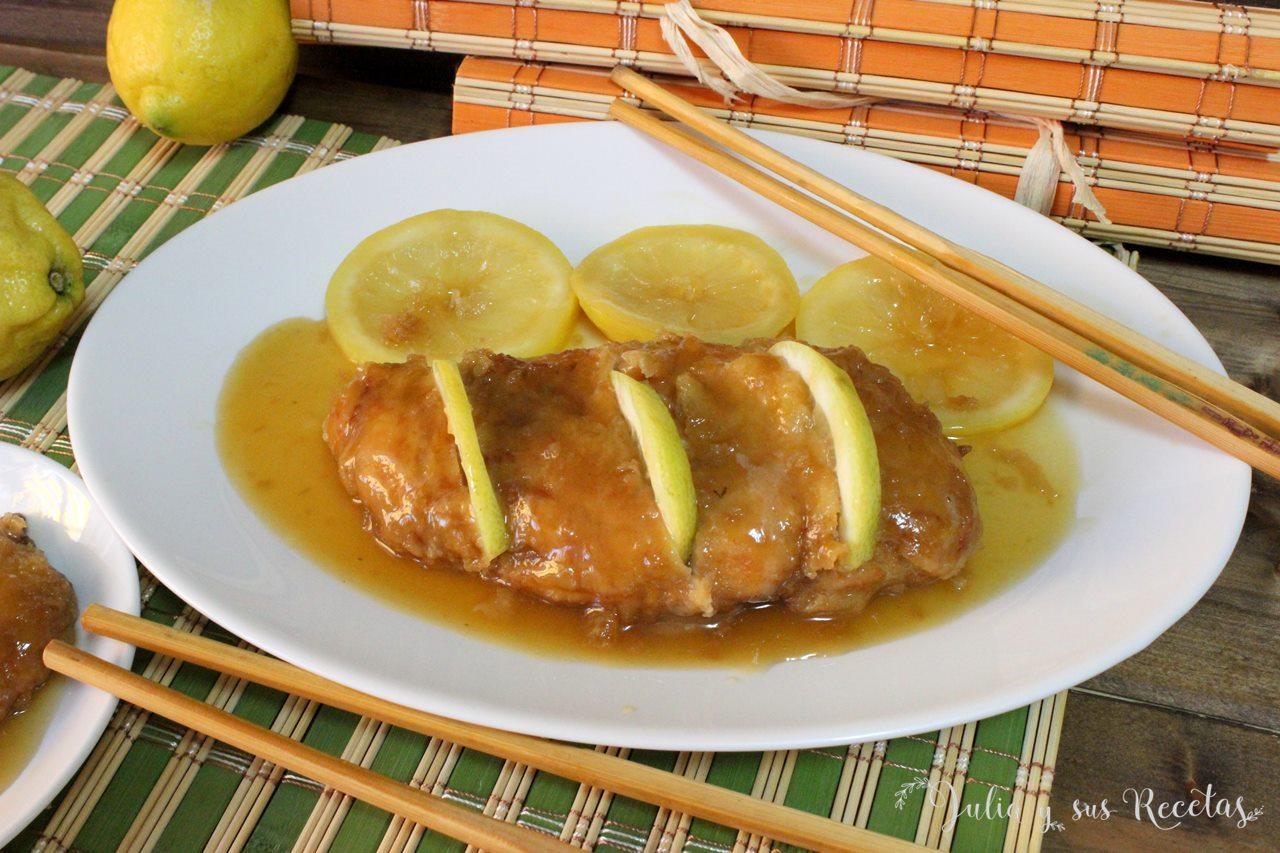 Julia y sus recetas pollo al lim n estilo chino - Salsa de pollo al limon ...