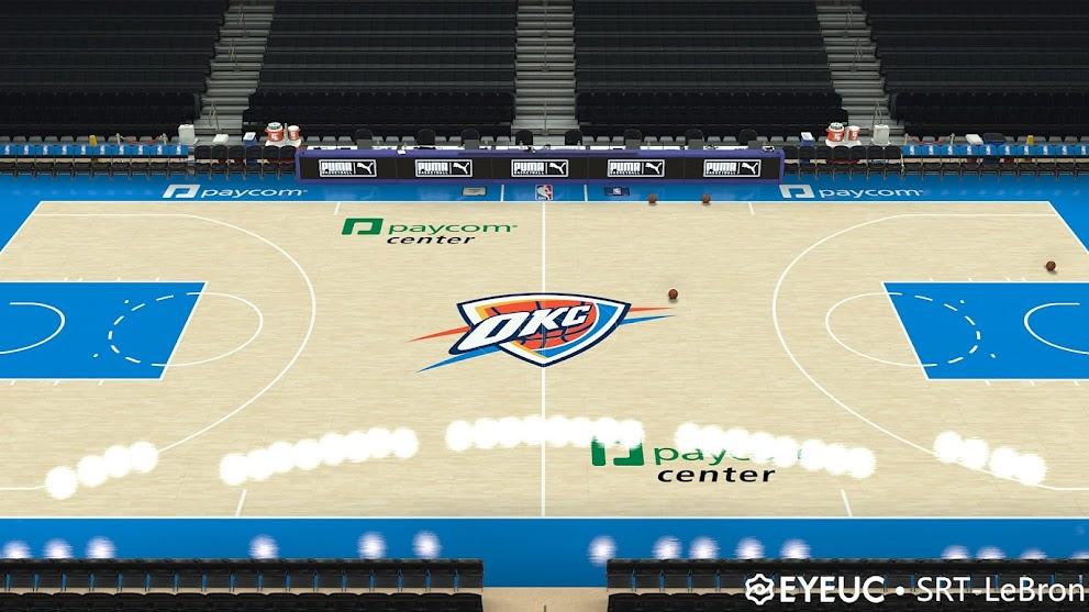 NBA 2K21 Oklahoma City Thunder 2021-2022 Season 8K COURT by SRT-LEBRON