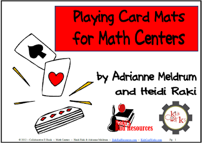Free E-Book full of no prep math centers that use a simple deck of playing cards - Free download from Raki's Rad Resources.