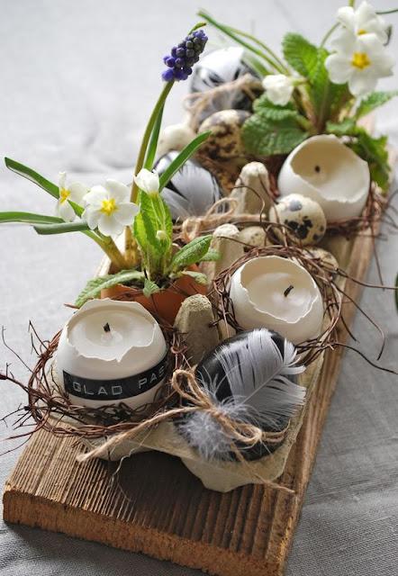 dekoracja wielkanocna jajka kwiaty