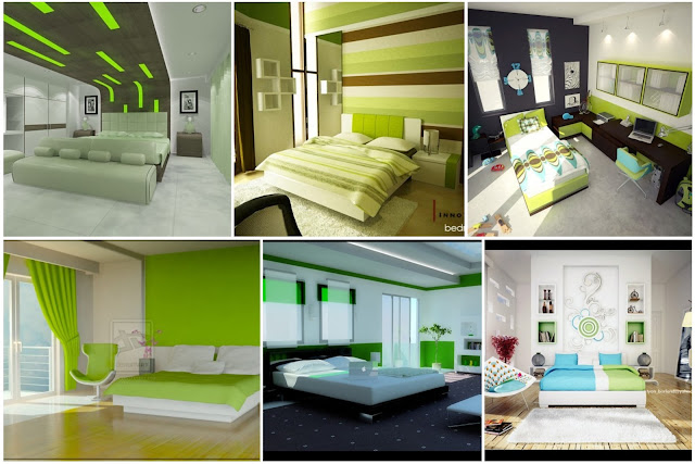 Green Bedrooms Designs Enhance Vitality In The Home