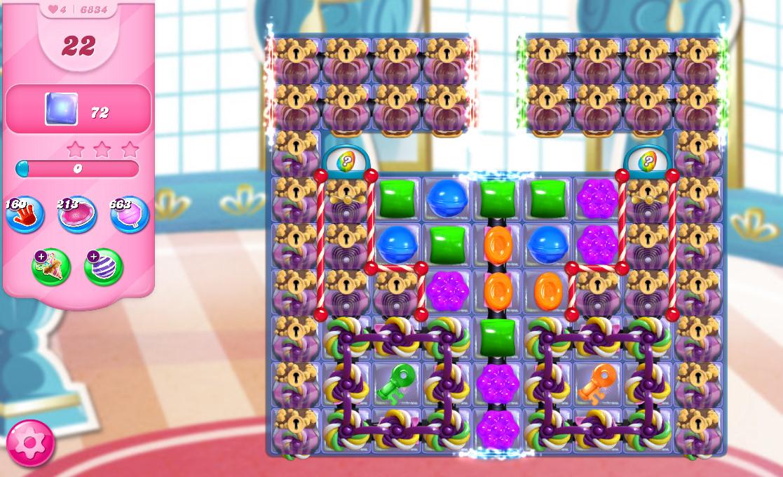 Candy Crush Saga level 6834