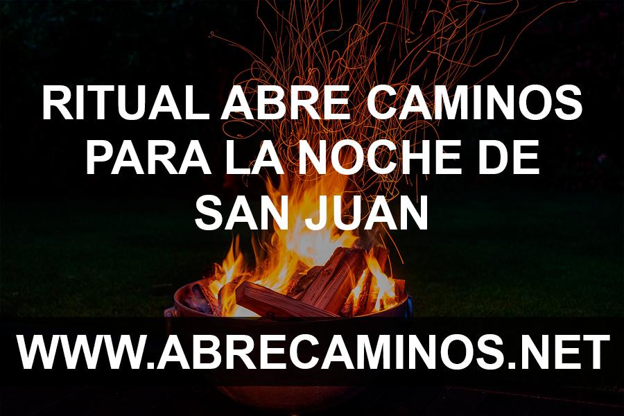 Ritual abre caminos para la noche de San Juan 2020