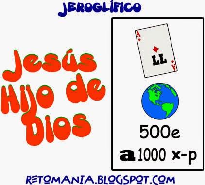 Retos matemáticos, Desafíos matemáticos, Problemas matemáticos, Semana Santa, Jesús, Dios, Jeroglíficos