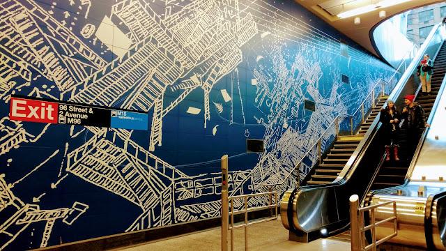 """Ландшафтний план"". Сара Шзі. Станція метро ""96th Street"". Нью-Йорк (""Blueprint for a Landscape"".Sarah Sze. 96th Street subway station, NYC)"