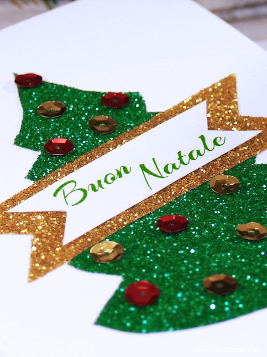 NATALE FAI DA TE Tutorial Biglietto di auguri di Natale ...