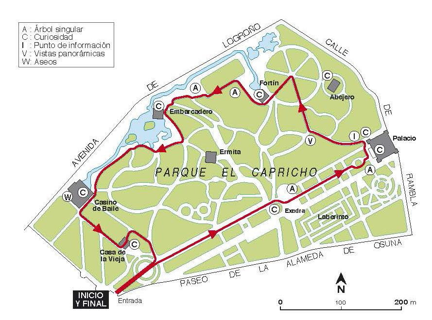 Parque Del Capricho Mapa.Parque Del Capricho Mapa Mapa