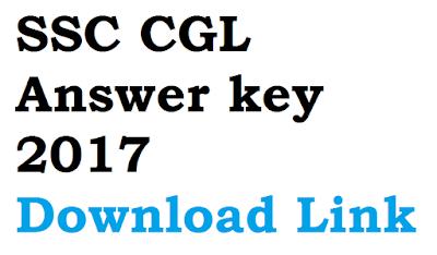 SSC CGL Answer key 2017 Download Link