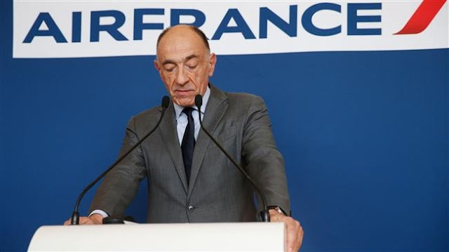 Air France share fall after CEO Jean-Marc Janaillac's resignation