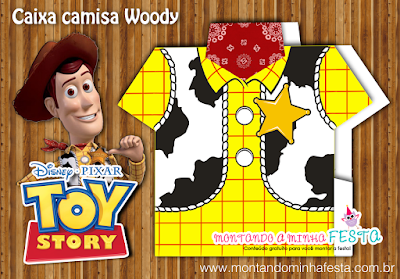 Toy Story, Woody: Free Printable Shirt Box.