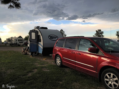 August 3, 2019 Setting up camp for the night.