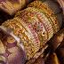Designer golden bangles
