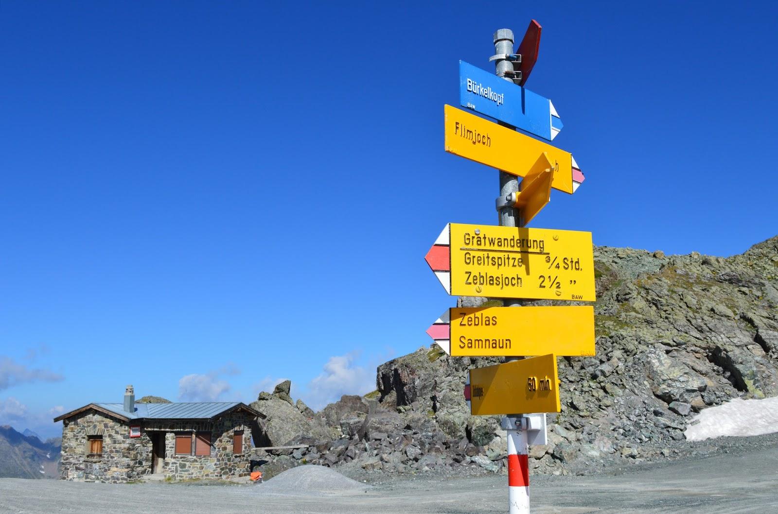 Szlakowskaz Czasy przejść Alpy