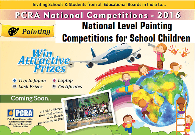 PCRA,National Level Painting Competitions,School Children