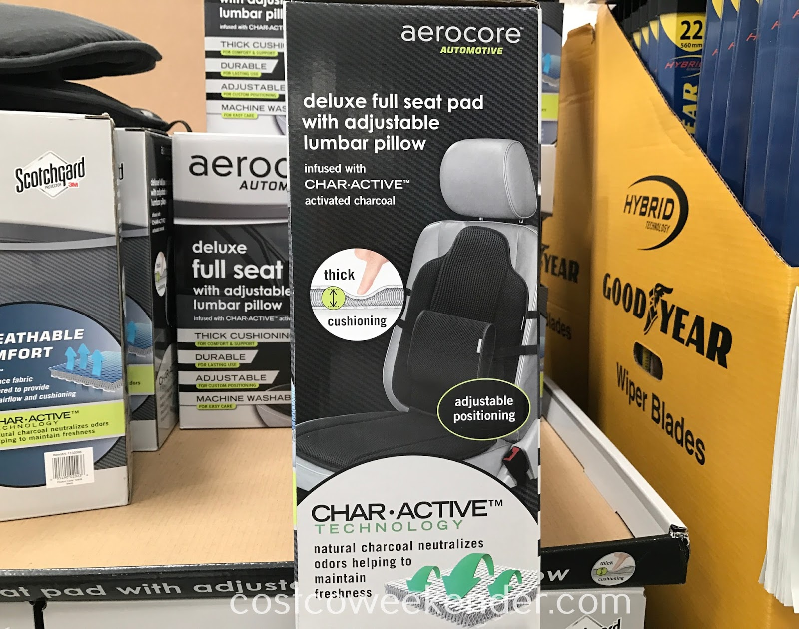 Costco 1133396 - Aerocore Deluxe Full Seat Pad Lumbar Cushion Set: personalized comfort in your own car