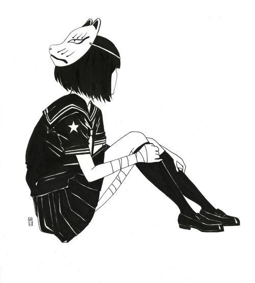 foto keren untuk profil hitam putih