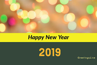 Beautiful blured lights with happy new year 2018 from greetings live