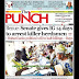 NIGERIA NEWSPAPERS: TODAY'S THE PUNCH NEWSPAPER HEADLINES [17 JANUARY, 2018].