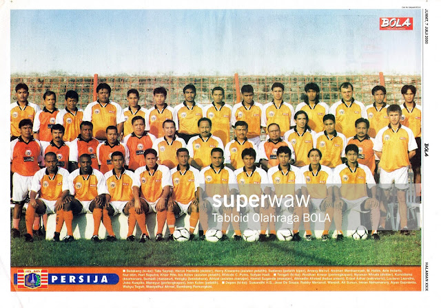 SKUAD TIM PERSIJA JAKARTA TAHUN 2000